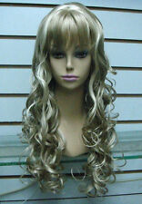 CHSW30 beautiful charming long curly blonde natural hair wigs for women wig