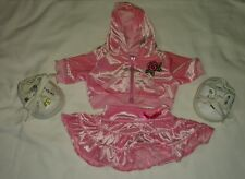 Build A Bear Girl Pink Rose Jacket Clothes Accessories Bow Skirt Shoes Lot EUC