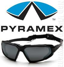 Pyramex Highlander Black Smoke Anti Fog Safety Glasses Sun Goggles Padded Z87