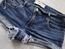 Hollister Abercrombie Low Rise Distressed Frayed Cuffed Mini Jean Shorts 5 27