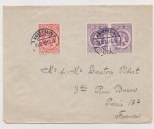 DENMARK  Letter with sticker of noel Copenhagen  Destination Paris  Year: 1949