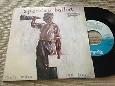 "SPANDAU BALLET SPANISH 7"" SINGLE SPAIN CHRYSALIS 84 PROMO ONLY WHEN YOU LIVE"