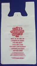 """25 Qty. Mike's Country Store Plastic T-Shirt Retail Shopping Bags 12"""" x 9"""" x 24"""""""