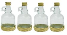 4 x Glass Bottle 1l   +  Corks Free P&P UK