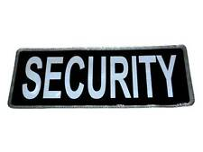 Black SECURITY Reflective Badge (Large) for Officers, Special Constables, PCSO
