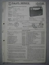 Philips LD472BT Babette Kofferradio Service  Manual Ausgabe 08/56