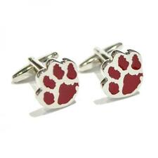 Red Dog Paw CUFFLINKS Party Runner Walker Owner Lover Pet Present Gift Box