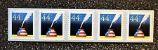 2011USA  #4496  44c Patriotic Quill & Inkwell - Coil Strip of 5 - Mint NH