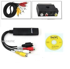 USB VHS Bänder Zu PC DVD Video Audio Converter 3 RCA DVR Überwachungskamera HD