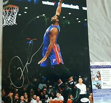 Andre Drummond Signed 11x14 in person. JSA CERTIFIED