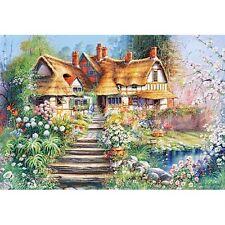 500 pièces puzzle Cottage with pond, Castorland 51717