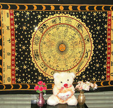 Zodiac Wall Hanging Tapestry Hippy Celestial Horoscope Fabric Ethnic Throw Decor