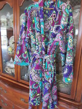 VERA BRADLEY FLEECE ROBE HEATHER XL  NWT KNEE LENGTH  BELTED AND 2 POCKETS!
