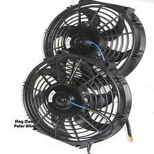 "Electric Radiator Fans Dual 10 "" & Relay Wiring Kit, Fits 20"" Core and Larger"