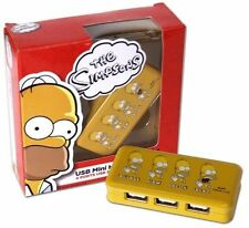 USB 2.0 4 Port Hub Homer Simpson Design - Yellow + Free USB Cable