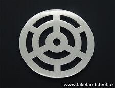 100mm 10cm rotonda in acciaio inox metallo Heavy Duty cervelli copertura grata griglia grata