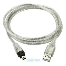 5ft USB To Firewire iEEE 1394 4 Pin iLink Adapter Cable