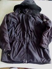 ladies OBERMEYER XL BLACK WINTER COAT thick warm jacket SKI hood LONG size 16