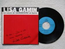 """45T 7"""" LISA GAMIN """"Le siècle de Gainsbourg se barre"""" BELETTE MUSIC BM 186/5 FR §"""