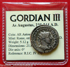Gordian III Silver Antoninianus January 244 AD Securitas Rome Roman Empire Coin