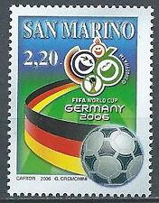 2006 SAN MARINO MONDIALI DI CALCIO IN GERMANIA MNH ** - ED