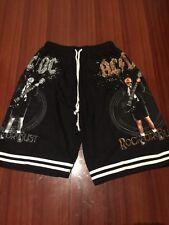 AC/DC - Mens Black Printed Cotton Shorts AC DC