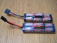 2 TRAXXAS 7-Cell 8.4V 3000mah Hump iD NI-MH Battery Nimh Rustler Stampede Bandit