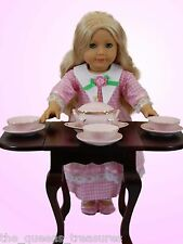 """18"""" Doll Fine China Svc For 4 Dishes, Bowl & Tureen For American Girl Furniture"""