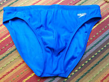 "Speedo Men's Sexy Blue 1"" Solar Swimsuit Bikini Nylon/Spandex Size 34 NWOT"