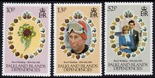 FALKLAND ISLANDS DEPENDENCIES 1981 Royal Wedding 3v set MNH @S4528