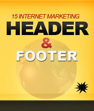 Internet marketing header & footer grafica Pack-PLR/RESELLER-progetto