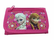 New Disney Frozen Anna & Elsa Pink Tri-Fold Mini Wallet Purse for Kids