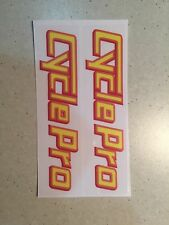 Cycle Pro Bmx  Fork STICKERS Decal Old School Bmx New Vintage