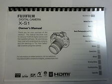 FUJIFILM X-S1 PRINTED INSTRUCTION MANUAL USER GUIDE 144 PAGES