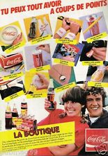 Publicité advertising 1983 La Boutique Boisson Coca-Cola