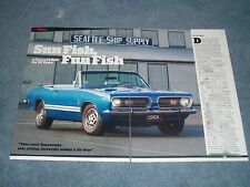 "1968 Plymouth Barracuda S Convertible Article ""Sun Fish, Fun Fish"" Cuda"