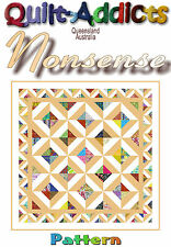 """NONSENSE"" - Patchwork Pattern by Quilt-Addicts"