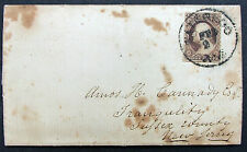 US Letter Waterloo 1856 Cancel Brown 3c Washington Stamp - Amerika Brief (I-8456