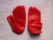 CHAUSSETTES LATEX avec ORTEILS  RARE ! 5 toes rubber socks - ROUGE taille L