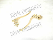 BRAND NEW ROYAL ENFIELD BRASS LONG BRAKE AND CLUTCH LEVERS @JUSTROYAL