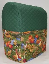 Custom Quilted Rooster Cover Set for Kitchen Countertop Appliances