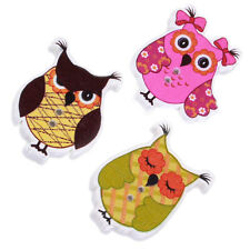 50pcs Wholesale Assorted Animal Owl Shape Wooden Buttons Sewing Scrapbooking J