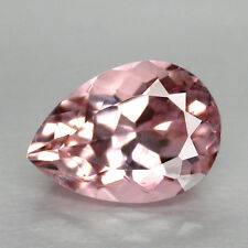 1.63CTS DELIGHTFUL LUSTER PEAR CUT NATURAL BRAZILIAN PINK MORGANITE WATCH VIDEO