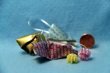 Dollhouse Miniature Christmas Wrapping Mess with Paper, Ribbon & Bows ~ CI5059