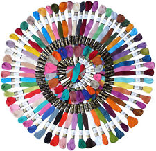 50pcs Different Colors Cross Stitch Embroidery Cotton Thread Floss Sewing Skeins
