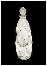 Rene LALIQUE Antique Etched Glass Perfume Bottle Jar Signed French Palerme Art