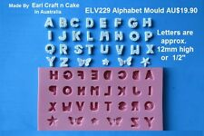 Alphabet Silicone Mould  Cake Decorating Gum Paste Sugar Cupcake Topper