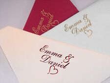 100 x Personalised Luxury Dinner Wedding  Napkins