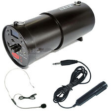 New Aker AK38X 25W Voice Amplifier Booster+Head-mounted Microphone+HandHeld Mic