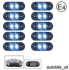 10 x CHIARO BIANCO 24V 2 LED LATERALI ANTERIORI CONTRASSEGNO LAMPADA LUCI CAMION FURGONE E-mark DOT
